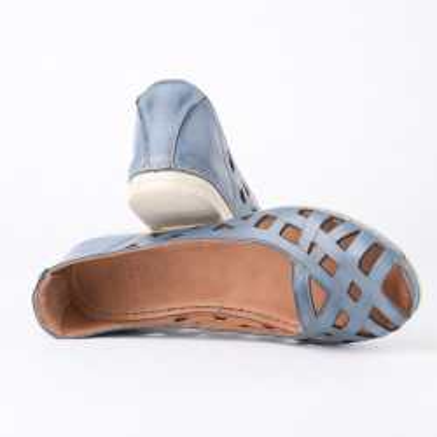 Kožne ženske baletanke K1119/535 plave