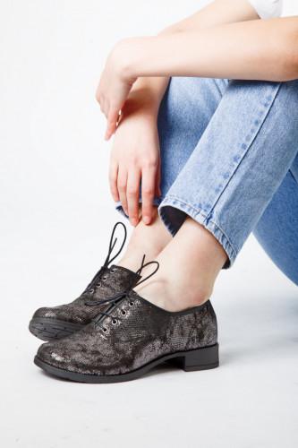 Kožne ženske cipele A13-37/25 crne