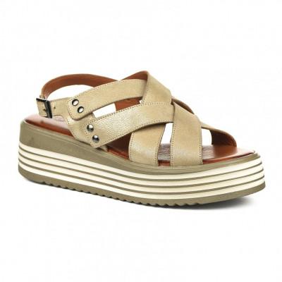 Kožne ženske sandale CB9690/0118 bež