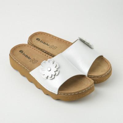 Ravne papuče DK000004 bele