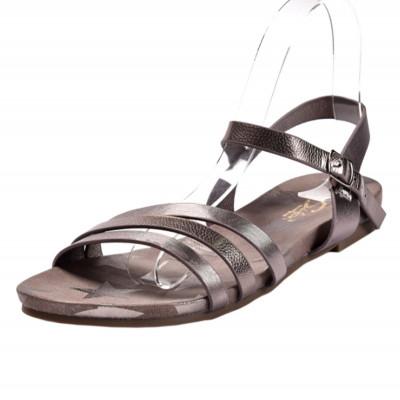 Ravne sandale LS02876 tamno srebrne