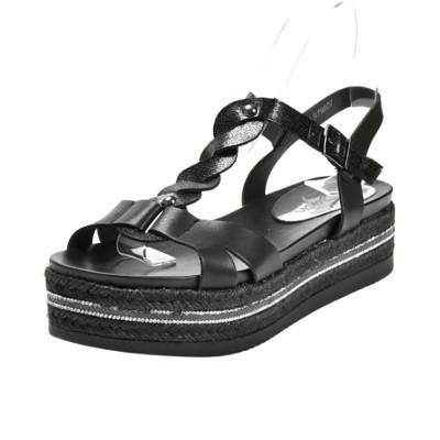 Sandale na debelom đonu LS79807 crne