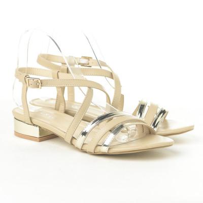 Sandale na malu petu 3723-4 bež/zlatne