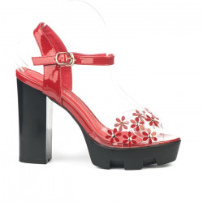 Sandale na štiklu DB831-754 crvene