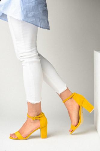 Sandale na štiklu LS241918 žute