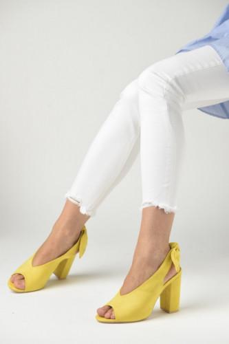 Sandale na štiklu LS391907 žute