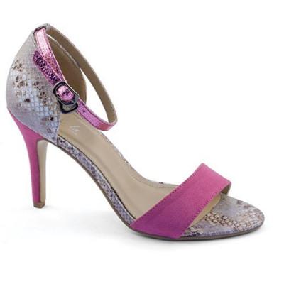 Sandale na štiklu LS4936 pink