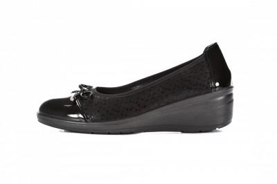 Ženske cipele na debelom djonu L082030 crne