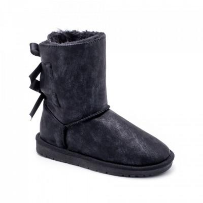 Ženske poluduboke čizme LH051256 crne(veliki brojevi)