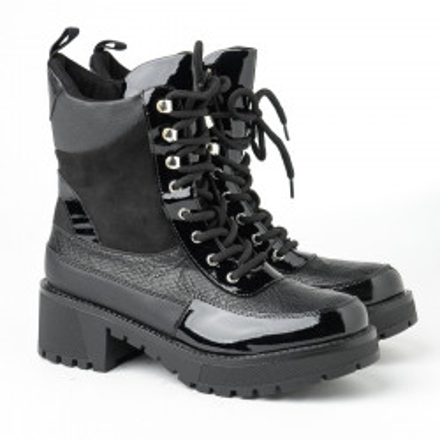 Ženske poluduboke čizme LH051702 crne