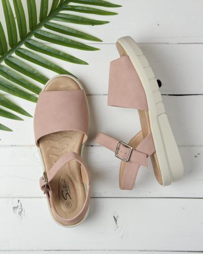 Ženske sandale na debelom djonu LS062101 roze
