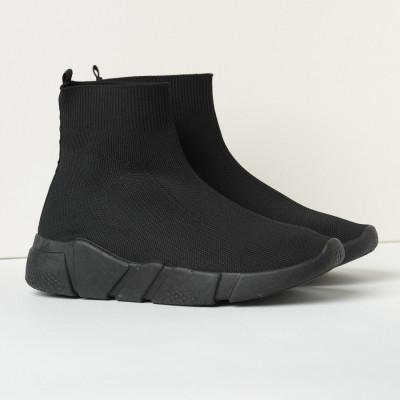 Čarape patike 42200 crne sa crnim đonom
