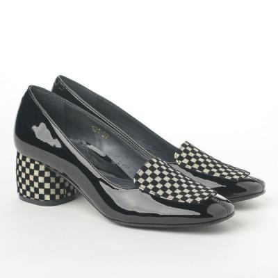 Cipele sa kožnom postavom N-131/1 crne