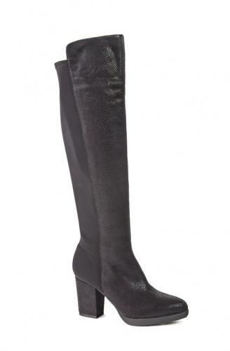 Čizme preko kolena WB03001 crne