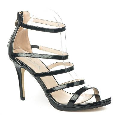 Elegantne sandale na štiklu S8304 crne