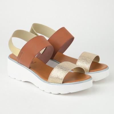 Italijanske sandale KLN07 zlatno-braon