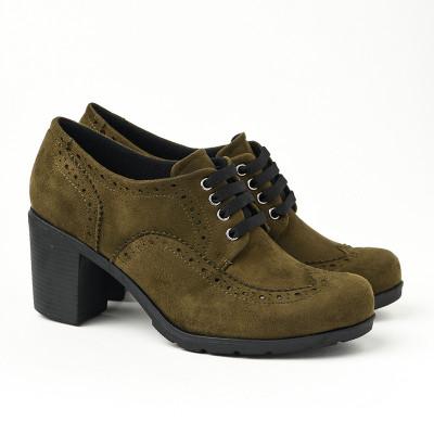 Jesenje cipele na petu 2360-843 maslinaste