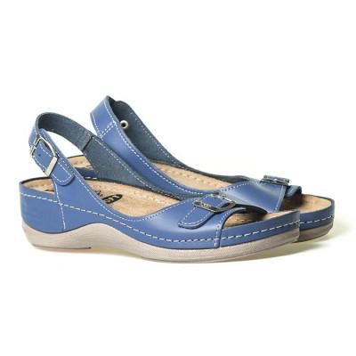 Kožne anatomske sandale 408 plave