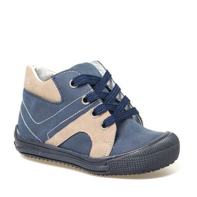 Kožne dečije cipele sa anatomskim uloškom B01 teget