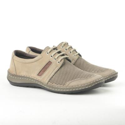 Kožne muške cipele 9559 bež
