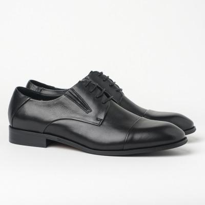 Kožne muške cipele HL-1051F-31-N3 crne