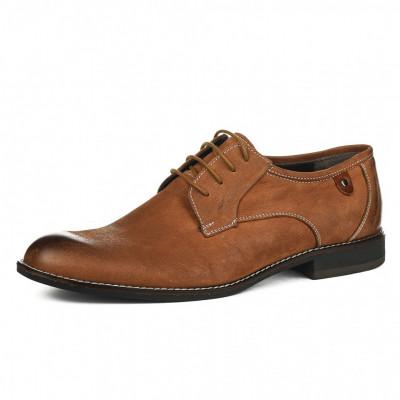 Kožne muške cipele P15608 kamel