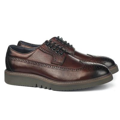 Kožne muške cipele PA121715-1-Q113JG braon