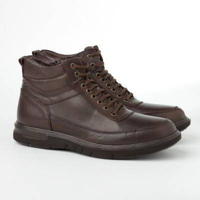 Kožne muške duboke cipele 2806 braon