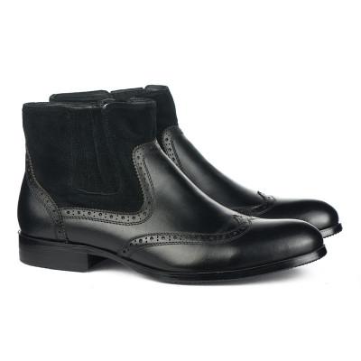 Kožne muške duboke cipele LY1668 crne