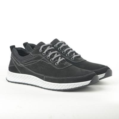 Kožne muške patike-cipele 91528-1 crne