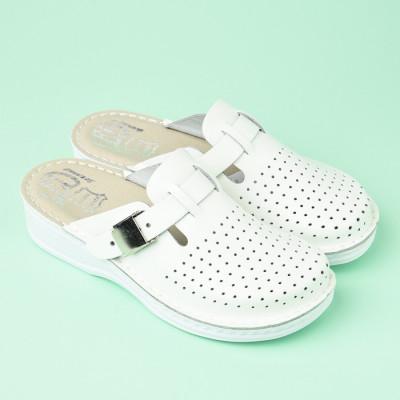 Kožne papuče 631 bele