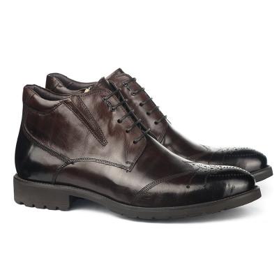 Kožne poluduboke cipele za muškarce HL-H1067F-2-M111 braon