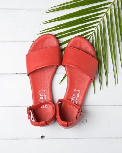 Kožne ravne sandale 2035 crvene