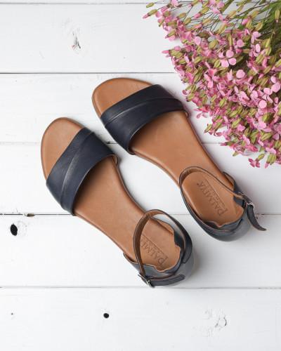 Kožne ravne sandale 2210 teget