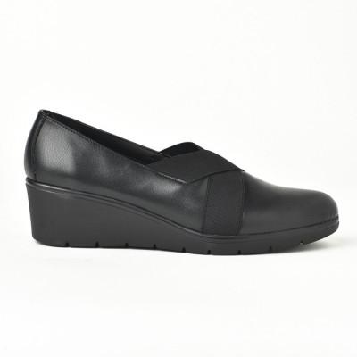 Kožne ženske cipele 664020 crne