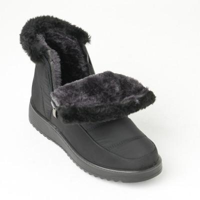 Postavljene ženske čizme LH060704 crne