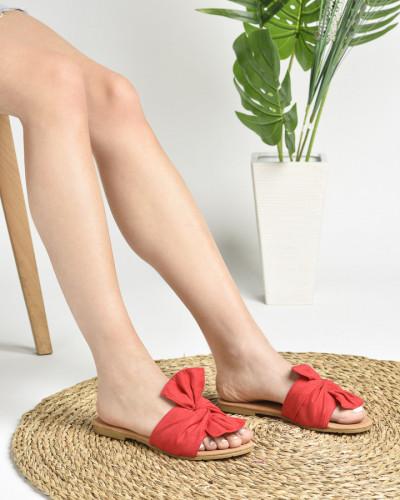 Ravne papuče LP020860 crvene