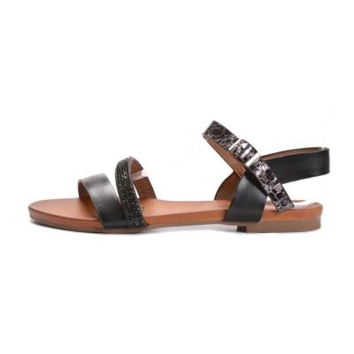Ravne sandale LS02862 crne