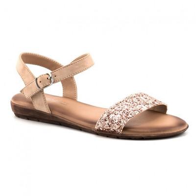 Ravne sandale LS80827-1 bež