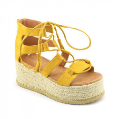 Sandale na debelom djonu LS021701 žute