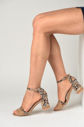 Sandale na štiklu 110-9 bež