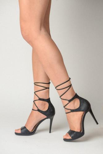 Sandale na štiklu 174 crne