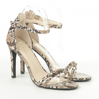 Sandale na štiklu 1949-21 bež