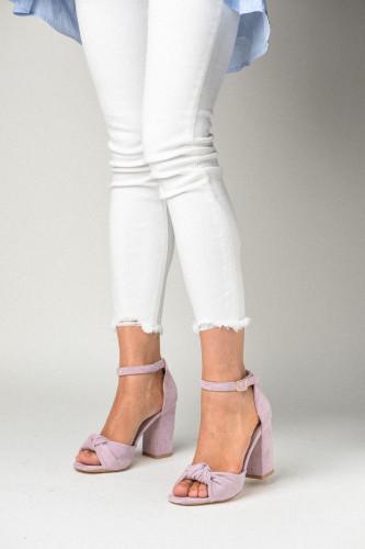 Sandale na štiklu LS241911 ljubičaste