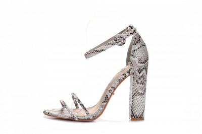 Sandale na štiklu LS242035 zmijski dezen