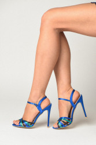 Sandale na štiklu S19504 plave