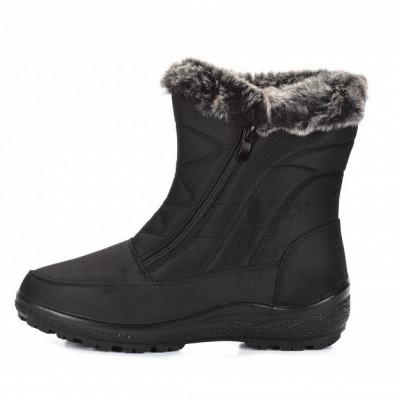 Tople ženske poluduboke čizme LH081945 crne