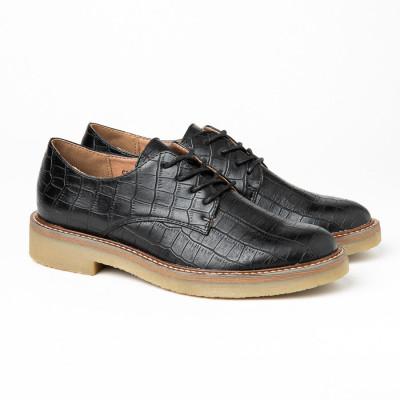 Ženske cipele C1901 crne kroko