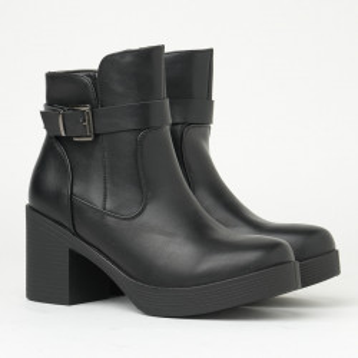 Ženske poluduboke čizme na malu petu ESL2027 crne