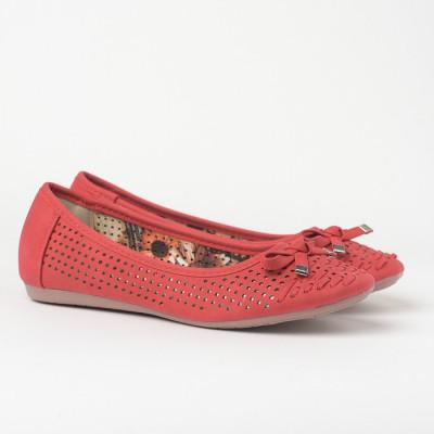 Baletanke sa kožnom tabanicom L71220-2 crvene